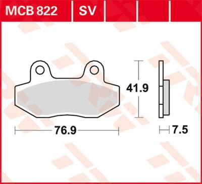 TRW Lucas Disc brake pad MCB822