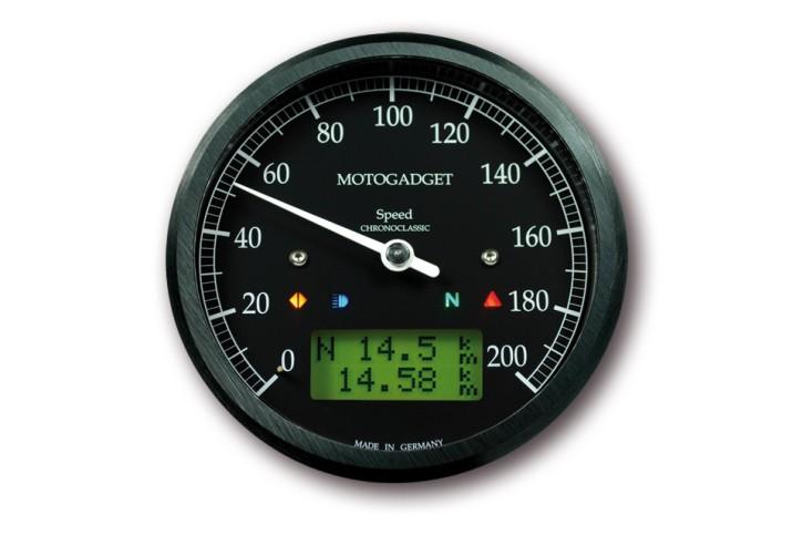 motogadget Chronoclassic speedometer, black