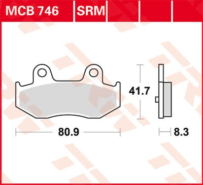 TRW Lucas Disc brake pad MCB746