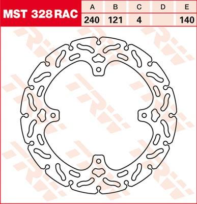 TRW Lucas Brake disc MST328RAC,fixed