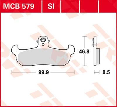 TRW Lucas Disc brake pad MCB579