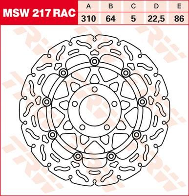 TRW Lucas Brake disc MSW217RAC, floating