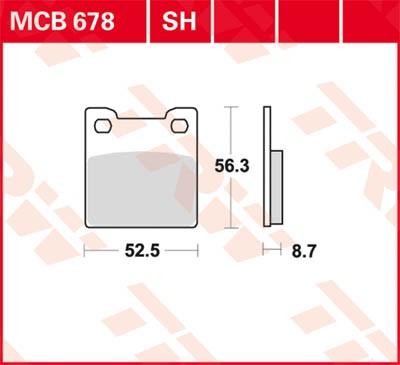 TRW Lucas Disc brake pad MCB678