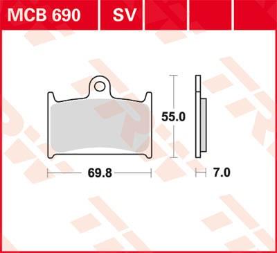 TRW Lucas Disc brake pad MCB690