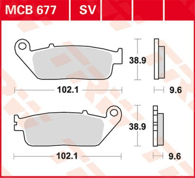 TRW Lucas Racing brake pad MCB677SRQ without homologation