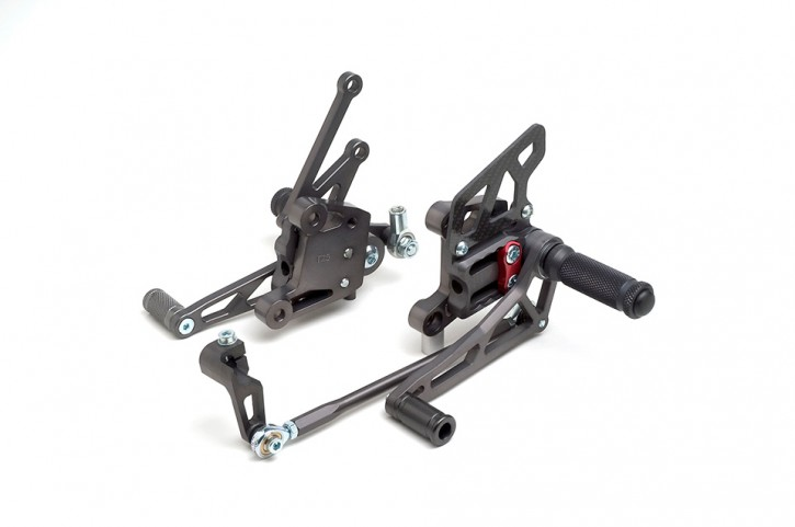LSL 2Slide rearset TRIUMPH T509/T955i 99-04, mounting piece red