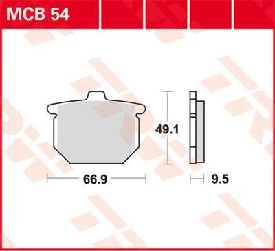 TRW Lucas Bremsbelag MCB54