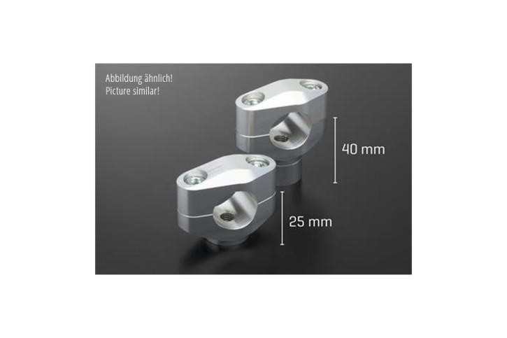 ABM Handle bar riser BOOSTER 25 mm, silver