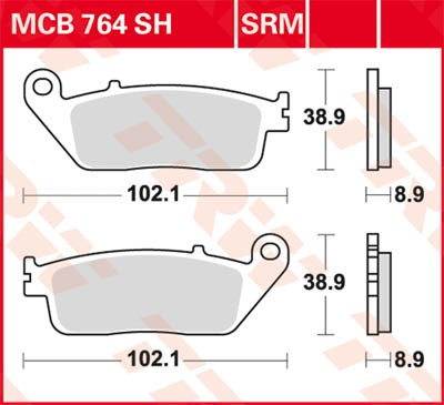 TRW Lucas Sinter disc brake pad MCB764SH
