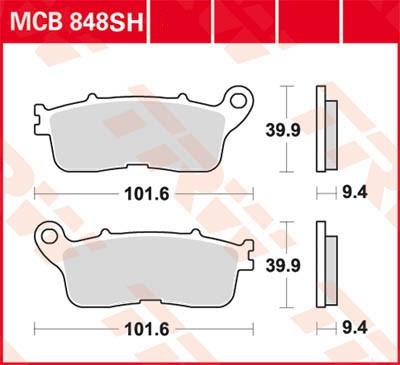 TRW Lucas Sinter disc brake pad MCB848SH
