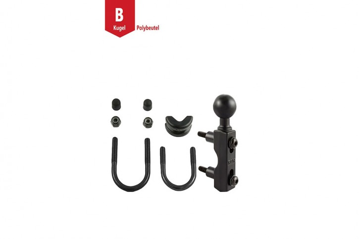 RAM Mounts Motorrad-Set Basisbefestigung (Lenker/Bremse/Kupplung) - U-Bügel