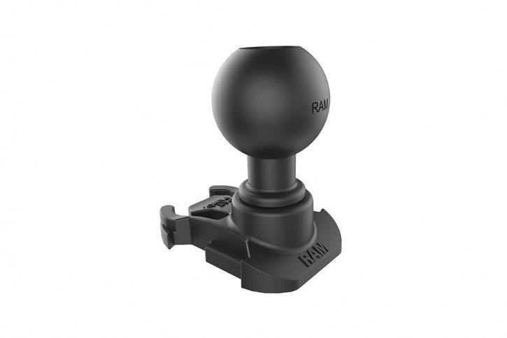 RAM Mounts Unpkd. GoPro base adapter w/ 1 inch ball
