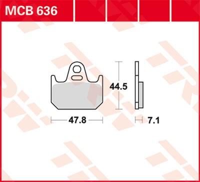 TRW Lucas Bremsbelag MCB636