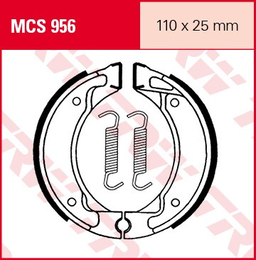 TRW Lucas Bremsbacken MCS956