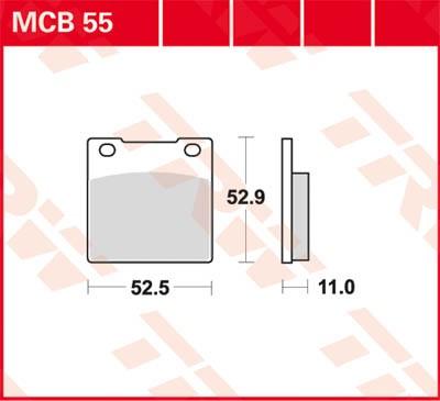 TRW Lucas Disc brake pad MCB55