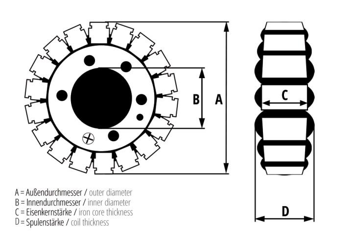 ElectroSport Stator ESG927 TRIUMPH 2-Cyl (02-ON) - 115/54