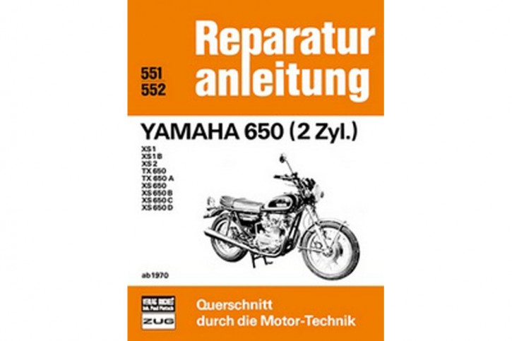 Motorbuch Engine book 551 YAMAHA 650 (2 cyl.) Repair manual from 1970