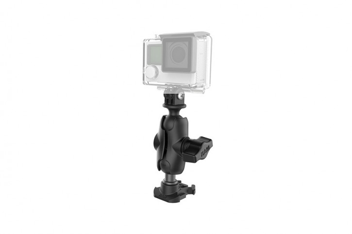RAM Mounts Gopro base & camera adapter w/ shrt arm