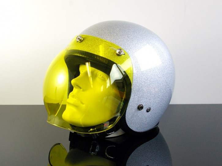 Bubblevisor / WINDSHIELD for Jet HELMET (Casque du jet), yellow