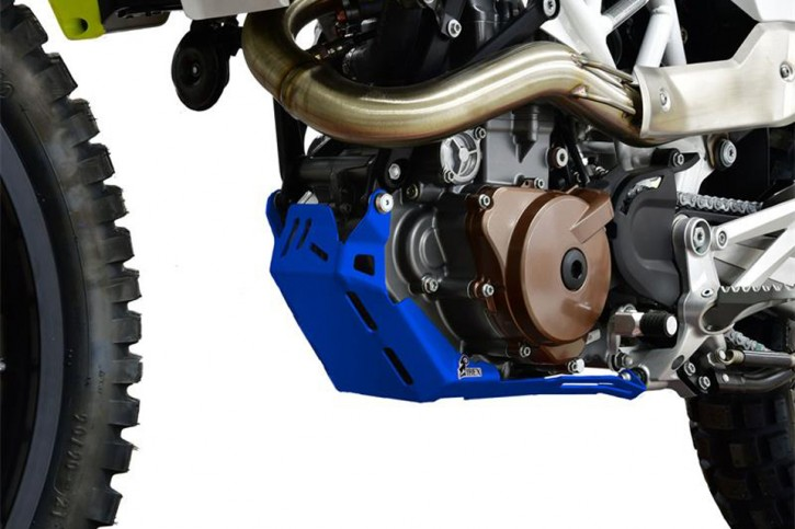 IBEX Engine guard red, HUSQVARNA 701 Enduro 16-18, blue
