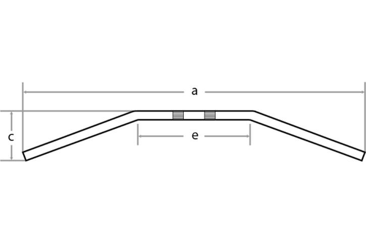 FEHLING Drag Bar Small, 7/8 Zoll, B:72cm