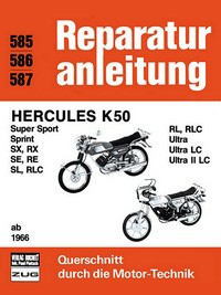 Motorbuch Engine book No. 585 repair instructions Hercules K50 ab 1966