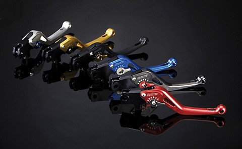 ABM Brake lever synto BH16 - short, gold/red