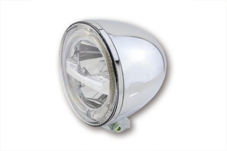 HIGHSIDER 5 3/4 Zoll LED Hauptscheinwerfer CIRCLE, chrom