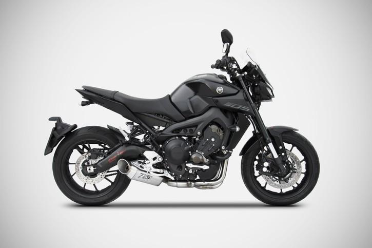 ZARD Complete system MT-09/XSR 900, Euro 4, Basso Full Kit 3-1