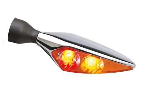 Kellermann Rück-, Bremslicht, Blinker Einheit Micro Rhombus DF Titan, hochglanz poliert, hinten rechts