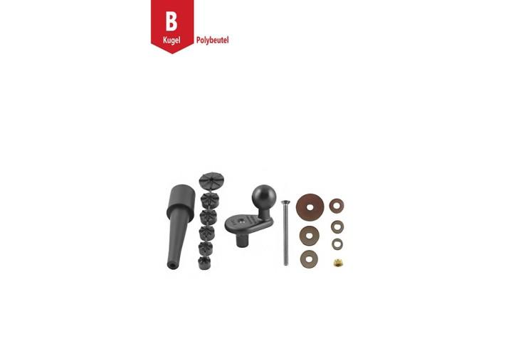 RAM Mounts Motorrad Basiskugel für Lenkerkopf - B-Kugel (1 Zoll), für InnenØ 12-33 mm