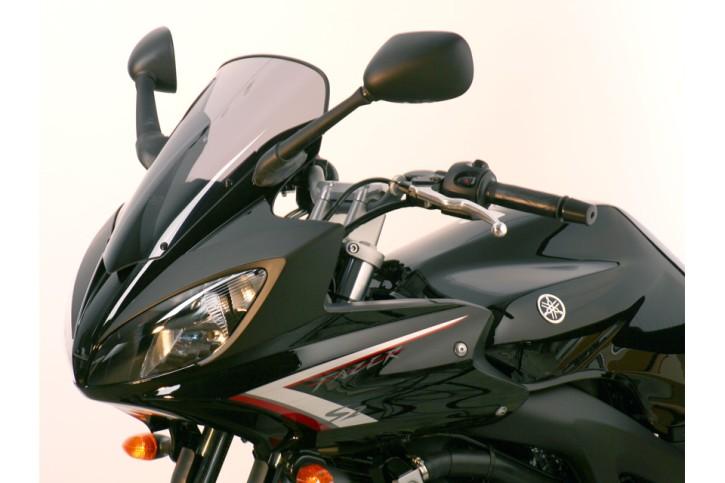 MRA Verkleidungsscheibe, YAMAHA FZ 600 S2 FAZER 2007-, schwarz, Originalform