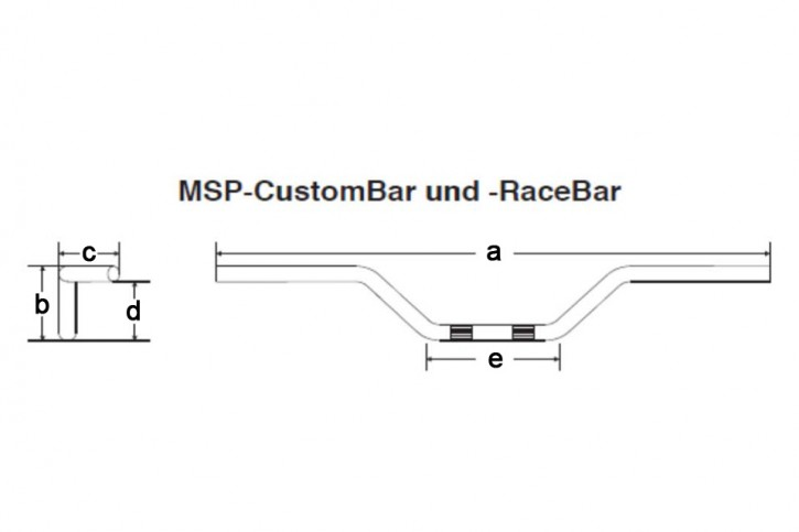 FEHLING Race-Bar, 850 mm schwarz