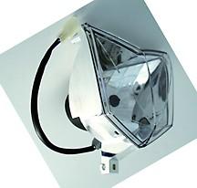 SHIN YO HS1 Vieleck Scheinwerfereinsatz, Klarglas, 12V 35/35W mit Standlicht, E-gepr.