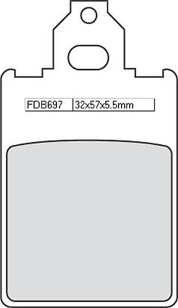 FERODO Disc brake pad FDB 697 AG