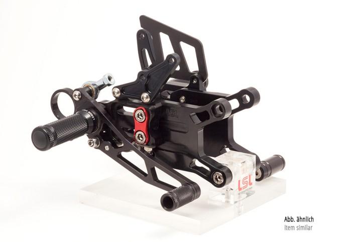 LSL 2Slide Rastenanlage Racing, APRILIA RSV 4R 10, schwarz, Fixierstück rot