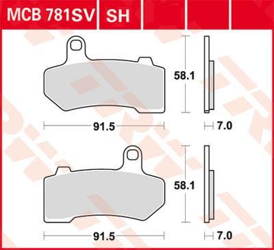 TRW Lucas Sinter disc brake pad MCB781SH