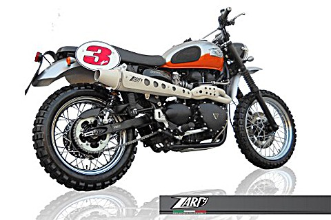 ZARD Complete system TRIUMPH Scrambler, 08-15 Injection, high mounted
