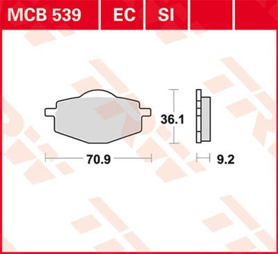 TRW Lucas Disc brake pad MCB539