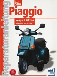 Motorbuch Engine book No. 5107 repair instructions Vespa PX-COSA,59-98