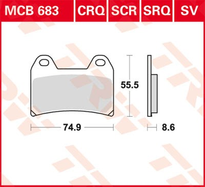 TRW Lucas Racing brake pad MCB683SRQ without homologation