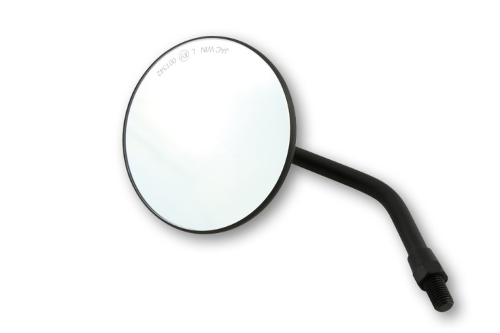 Handlebar mirror SEVENTY, black, by SHIN YO, e-marked