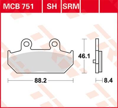 TRW Lucas Sinter disc brake pad MCB751SH