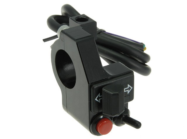 Komplette Mini CNC Aluminium Motorrad-LENKERARMATUR, schwarz, für 22 mm-Lenker