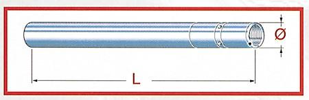 TAROZZI Fork tube Honda XR 400, 99-02, D = 43mm L = 700mm
