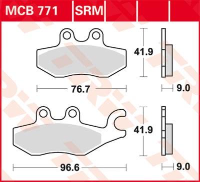 TRW Lucas Disc brake pad MCB771