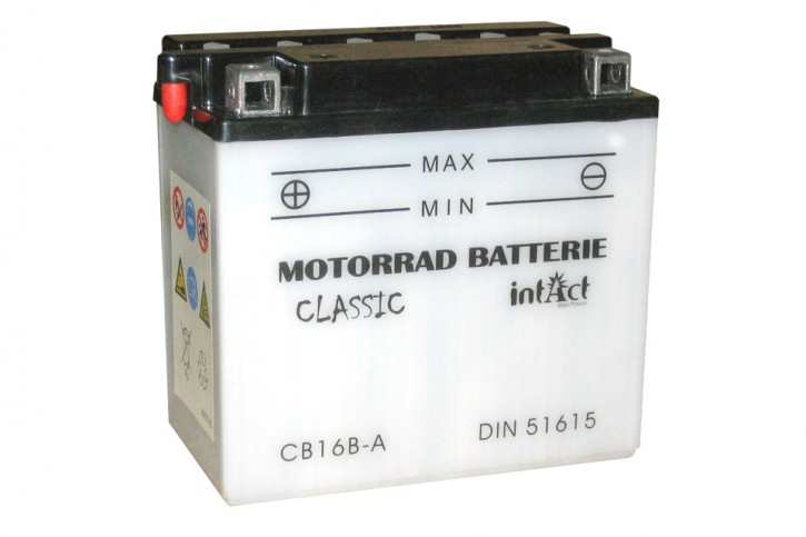 INTACT Bike Power Batterie CB16B-A mit Saeurepack
