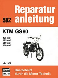 Motorbuch Engine book No. 582 repair instructions KTM GS 80