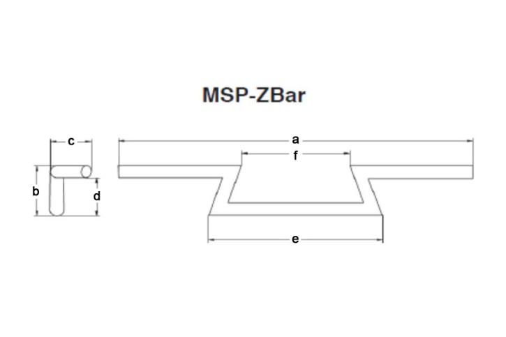 FEHLING Z-Bar, low, 850 mm black