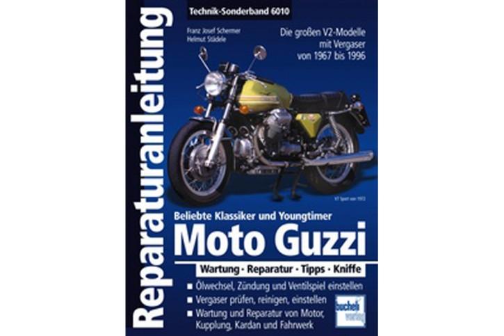 Motorbuch Engine book Repair instructions MOTO GUZZI V2 1967-1999, Special Edition, German
